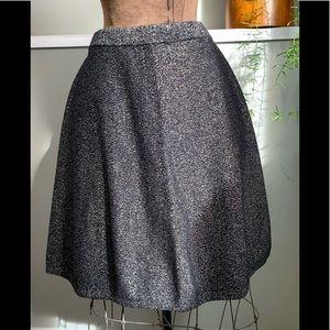 Nanette skirt- black with metallic gold threads XL